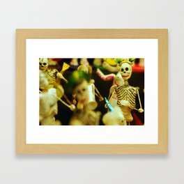 Day of the Dead Party Framed Art Print