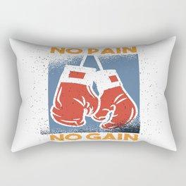 No Pain No Gain Rectangular Pillow