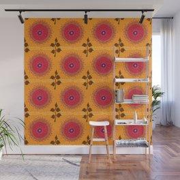 Ma Boheme La Floraison - Floral Bohemian Pattern Wall Mural