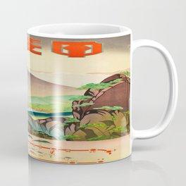 Japanese Rail Travel Poster Coffee Mug