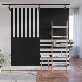GEOMETRIC (BLACK-WHITE) Wall Mural