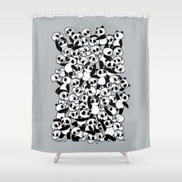 Dia de Los Muertos Panda Party Shower Curtain