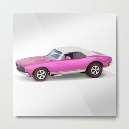 Hot Wheels Pink Party 427 SS Pony Car 67 Redline with white hardtop Metal Print