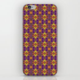 Gold & Purple Curly Medallions iPhone Skin