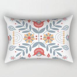 Scandinavian Folk Art Rectangular Pillow