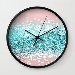 Tropical Summer Vibes Glitter #1 #decor #art #society6 Wall Clock