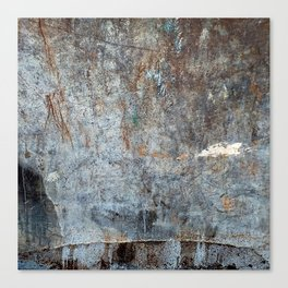 Abstract Grey with White Cloud Canvas Print