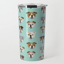 English Bulldog pattern print dog breed pet portrait gifts for dog owner bulldog Travel Mug