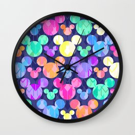 Mickey Mouse Bright Arrows Wall Clock