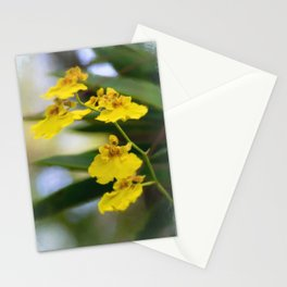 Yellow Orchids Stationery Cards