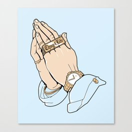 Thug Prayer Canvas Print