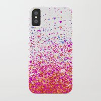 sparkles iPhone & iPod Cases featuring sparkles by Bunny Noir