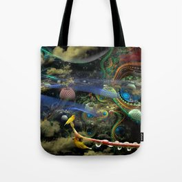 The Bioluminoidal Fractalization Process Tote Bag