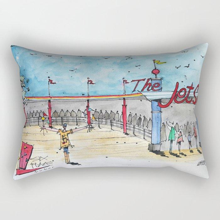 Six Flags Dubai - The Jet Set Rectangular Pillow