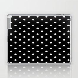Black & White Polka Dots Laptop & iPad Skin