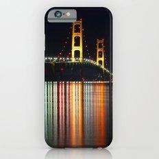 Mackinac Bridge at Night iPhone 6 Slim Case