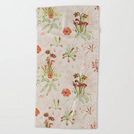 Carnivorous Floral Beach Towel
