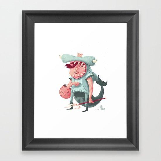 Shark Kid Framed Art Print