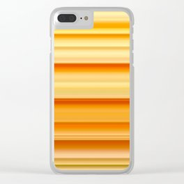 summer time striped pattern Clear iPhone Case