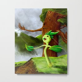 Growth of a seed Metal Print