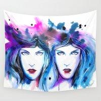 gemini Wall Tapestries featuring Gemini by Nathan Dixon Art