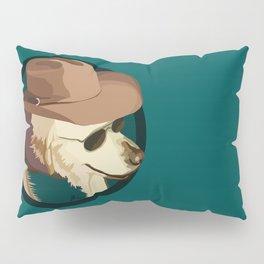 Golden Retriever in a Cowboy Hat Pillow Sham