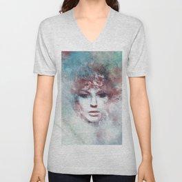 Girl face painting ART Unisex V-Neck