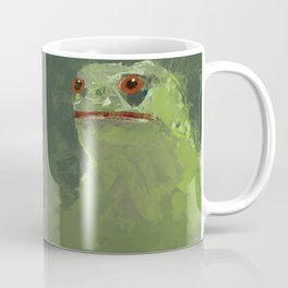 Frog simple illustration texture painting pepe Coffee Mug