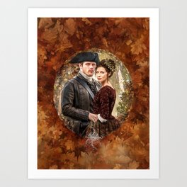 Autumn outlander Art Print