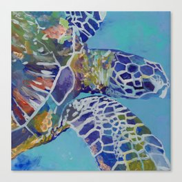 Honu Kauai Sea Turtle Canvas Print