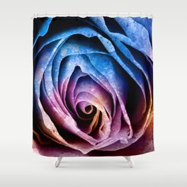 Abstract Acrylic Rose Shower Curtain