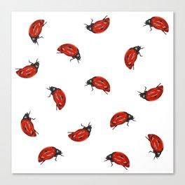Ladybug Pattern Canvas Print