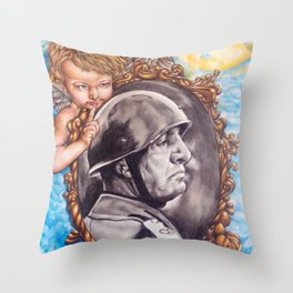 COME BACK OR LEAVE By Davy Wong Throw Pillow