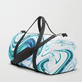 Liquid Marble - aqua & blues Duffle Bag