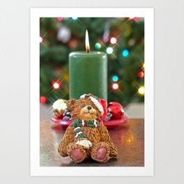 Little Bears Christmas Art Print