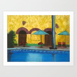 By The Poolside Art Print