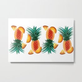 Pineapple Tumble Metal Print