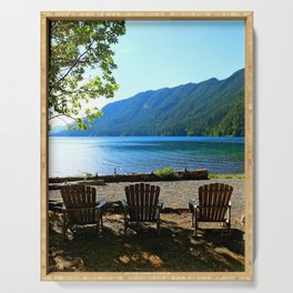Adirondack Chairs at Lake Cresent Serving Tray