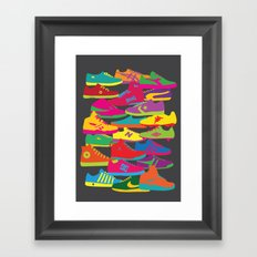 Sneakers Framed Art Print