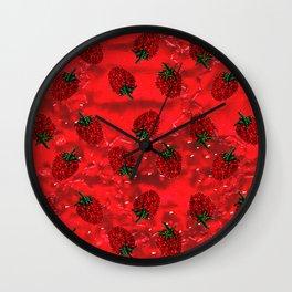 Raspberry fever Wall Clock
