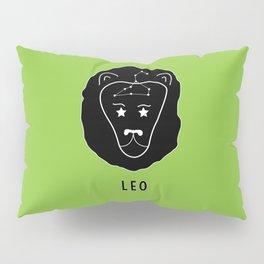 LEO Horoscope Lion Design - Light Green Pillow Sham