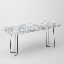 White and Grey Botanical Silhouette Pattern - Broken but Flourishing Bench