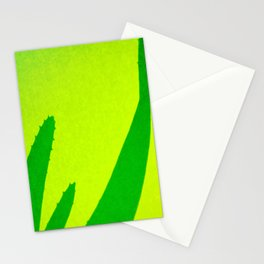 Aloe, green, lime-green Stationery Cards