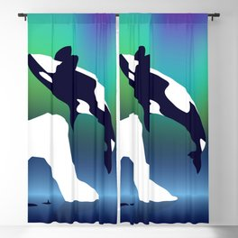 Paper Craft Orca Blackout Curtain