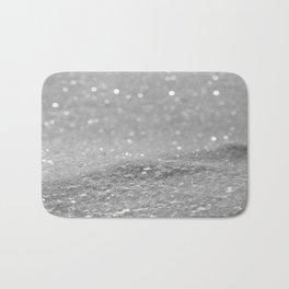 Glitter Silver Bath Mat