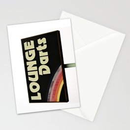 Lounge Darts sign Stationery Cards