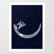 Skate in space Art Print