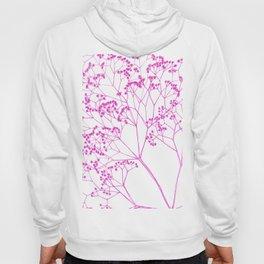 Elegant, boho floral drawing. Hoody