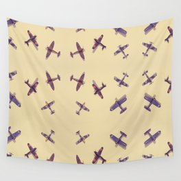 Toys#plane#1942#yellow Wall Tapestry