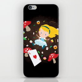 Alice Falling Down the Rabbit Hole iPhone Skin